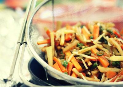 Ensalada + Wok vegetariano
