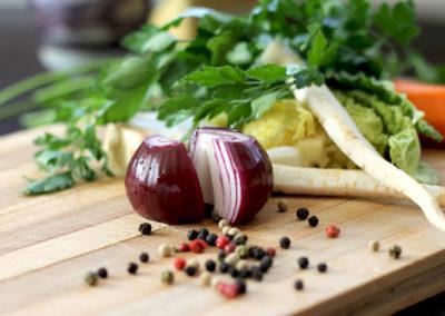 Ensalada + Budín de espinaca
